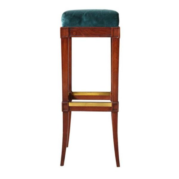 Superb A French Art Deco Mahogany Stained Bar Stool Cjindustries Chair Design For Home Cjindustriesco
