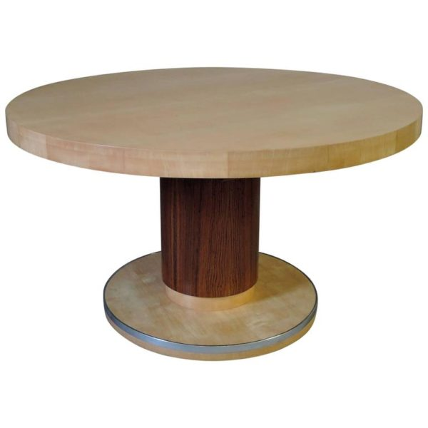 A Fine Round Art Deco Extendable Dining Table by De Coene