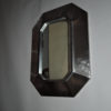 A Fine French 1970's Stainless Steel Framed Mirror