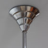 A Fine French 1930's Modernist Chrome and Glass Chandelier by Genet et Michon