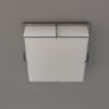 Fine French Art Deco Square Enameled Glass and Chrome Flush Mount by Jean Perzel