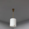 Fine French Art Deco Glass and Bronze Pendant by Perzel