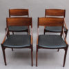 Set of Four 1960s Danish Chairs by Vestervig Erikson