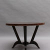 French Art Deco Rosewood Gueridon with a Four Curved-Leg Pedestal