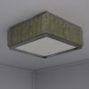 Fine French Art Deco Square Glass and Chrome Flush Mount by Perzel