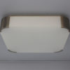 Fine French Art Deco Square Glass and Chrome Ceiling or Wall Light by Perzel