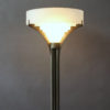 A Rare Fine French Art Deco Chrome and Glass Floor Lamp by Jean Perzel