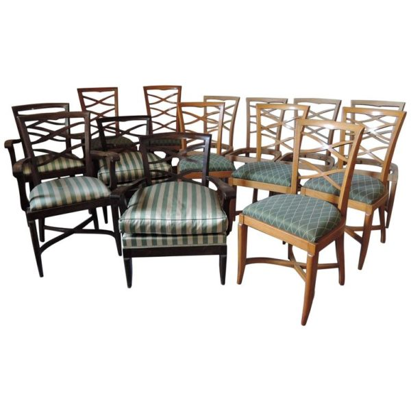 Large Set of French 1950s Side and Armchairs by Collado