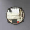 Fine French Art Deco Silver Plated Bronze Framed Round Mirror