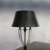 French Midcentury Metal and Glass Table Lamp by Sabino
