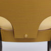 Set of 6 French 1960's Black Lacquered and Vinyl Dining Chairs