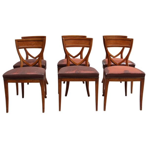 Magnificent Set Of Six French 1940S Neoclassical Dining Chairs Ocoug Best Dining Table And Chair Ideas Images Ocougorg