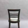 Set of Eight Fine French Art Deco Ebonized Lime Oak Dining Chairs