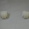 Pair of Fine French Art Deco Frosted Glass and Chrome Sconces by Perzel