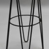 3 French 1950's Black Metal and Rattan Bar Stools