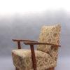 4 Fine French Art Deco Oak Pedestal Lounge Armchairs