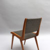 Set of 6 French Mid-Century Oak Dining Chairs by Roset