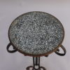 French Art Deco Wrought Iron and Terrazzo Side Table