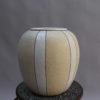 French Art Deco Craquelé Ceramic Vase by Atelier Pomone for Le Bon Marché