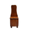 French Midcentury Cherry Chair with Compartment Under Seat
