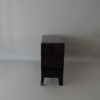 French Art Deco Black Lacquered Two Door Buffet/Commode with Bronze Details