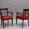 Set of 10 Fine French Art Deco Mahogany dining chairs ( 8 side and 2 arm)