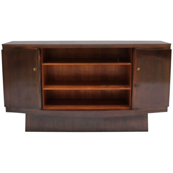 A Fine French Art Deco Walnut Sideboard by Maxime Old