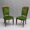 Set of 10 Fine French Art Deco Walnut Chairs by Jules Leleu (8 Side and 2 Arm)
