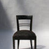 Set of Six French Art Deco Blackened Dining Chairs