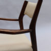 Set of 12 French Fine 1960's Elm Arm Chairs