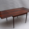 Danish 1960s Square Rosewood Extendable Table by Svend E. Jensens Mobelfabrik