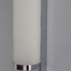 French Art Deco Glass and Chrome Sconce by Jean Perzel