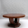 Large Fine French Art Deco Extendable Oval Dining Table by Georges Renouvin