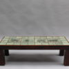 Fine French Mid-Century Ceramic Top Coffee Table by Jacques Blin