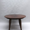 Fine French Art Deco Round Ebony Extendable Dining Table