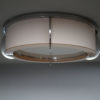 Pair of Fine French Art Deco Pink and White Glass Flush Mounts by Perzel
