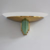 A Fine French Art Deco Glass and Bronze Sconces by Jean Perzel