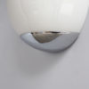 Fine French Art Deco Enameled Glass and Chrome Sconce by Perzel