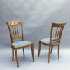 Fine French Art Deco Desk and Two Matching Side Chairs by R. Damon & Bertaux