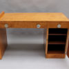 Fine French Art Deco Birch Desk with Chrome Details