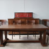 Rare Set of Ten French Art Deco Walnut Dining Chairs by Jean-Charles Moreux