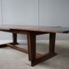 Rare Fine French Art Deco Walnut Dining Table by Jean-Charles Moreux