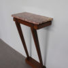 A Fine French Art Deco Mahogany Console and Marble Top
