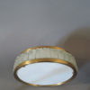 Pair of Fine French 1970s Glass and Bronze Flush Mount by Perzel