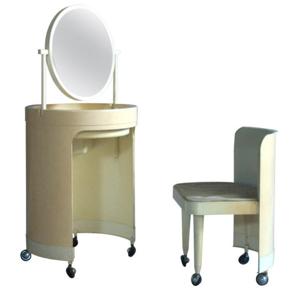 An Italian 1960's Plastic Vanity and Chair