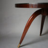 Fine French Art Deco Mahogany Gueridon with an ÉGlomisé Glass Top