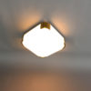 Fine French Art Deco Glass and Bronze Square Ceiling or Wall Light by Perzel