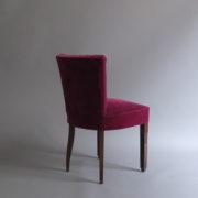 1005- 4 chaises Dudouyt violettes (4)
