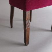 1005- 4 chaises Dudouyt violettes (9)