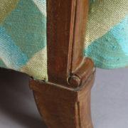 1094-Paire fauteuils clubs a carreaux verts (14)